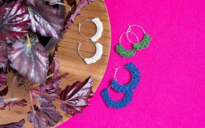 Crocheted Earrings Pattern, First Bud Earring