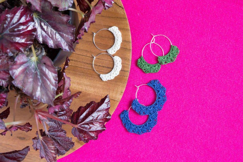Crocheted Earrings Pattern